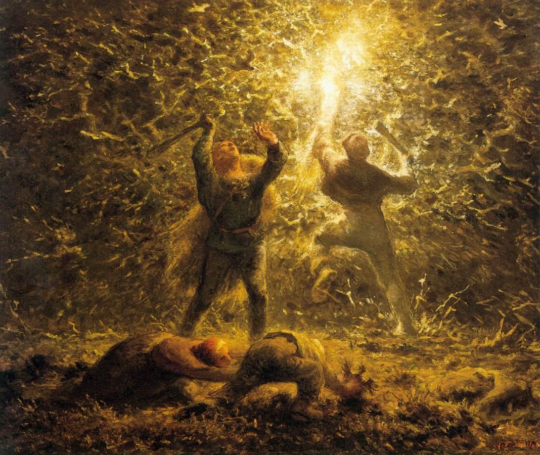 Hunting Birds at Night Canvas Art Print Jean-Francois Millet Bird/'s-Nesters