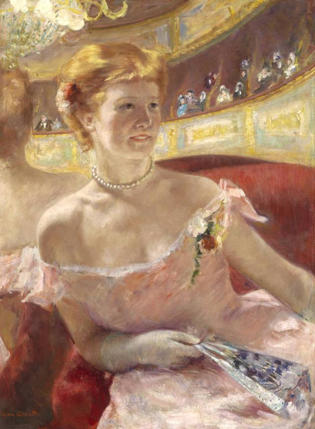 Lydia in a Loge, Wearing a Pearl Necklace
