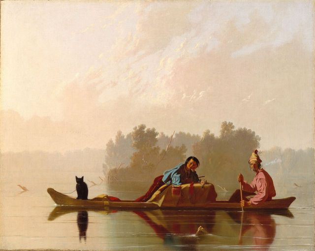 Fur Traders Descending the Missouri, ca. 1845, oil on canvas, 74 x 92cm, Metropolitan Museum of Art, New York City, NY