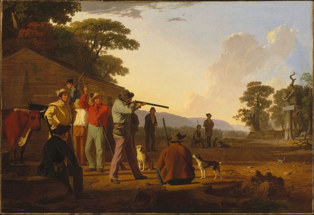 Shooting for the Beef, 1850, oil on canvas, Brooklyn Museum