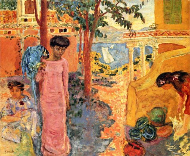 Girl With Parrot, 1910, oil on canvas, 104 x 122 cm, Private Collection