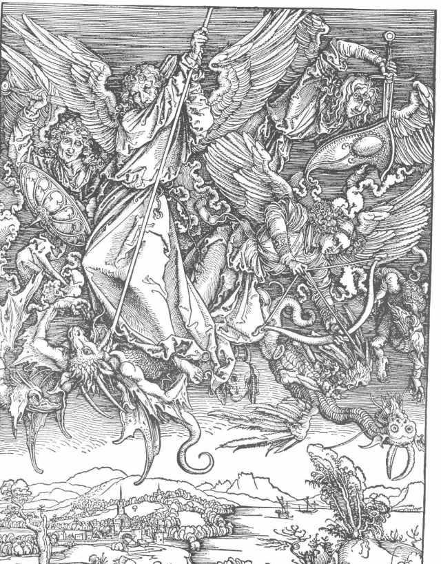 Saint Michael Fighting the Dragon, ca. 1497, Staatliche Kunsthalle Karlsruhe, Germany